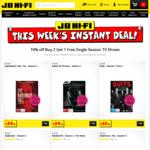 10% off Buy 2 Get 1 Free Single Season TV Shows @ JB Hi-Fi
