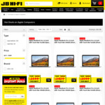"10% off New MacBook Pro 2018 8th Gen Intel (E.g. 13"" Inch 256 SSD for $2429 / 15"" Inch 256 SSD for $3149, etc) @ JB Hi-Fi"