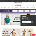Free Shipping No Minimum Spend @ Cotton On (Items from $0.50 Delivered) + 12% Cashback from Cashrewards
