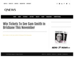 Win Tickets to See Sam Smith in Brisbane This November from QNews