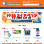 Reduced Shipping: Free Shipping on Orders over $50 & $5 Shipping on Orders under $50 @ Good Price Pharmacy