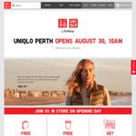 Uniqlo Perth Open Deals: $10 off Uniqlo App (Spend $50), Free Coffee & Gift Bag @ Uniqlo Perth