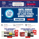 Collect 2,500 Flybuys Points When You Spend $149 on Wine Using Click and Collect @ First Choice Liquor Online