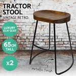 [Pre-Order] 65cm Tractor Bar Stools (2) $131.20 @ Ozplaza Living eBay