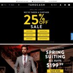 Further 25% off at Tarocash (Excludes Full Priced Items) Online Only