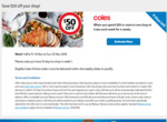10,000 Flybuys Bonus Points ($50) with 4 Weeks of $XX Spend (Instore or Online) @ Coles (via Flybuys)
