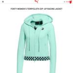 FENTY Women's RACING JACKET Zip-up $30 (Was $300) Fitted $42 (Was $260), Men's Hoodie $30 (Was $240) @ Puma