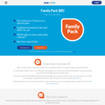 ALDImobile Family Pack $80 (30 Day Expiry) 4 Users with 40GB Shared Data and Unlimited Calls and SMS