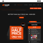 Boost Mobile $40 Prepaid SIM for $15