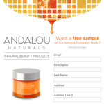 Free Pumpkin Face Mask Sample Delivered from Andalou
