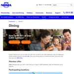 Up to 20% off at over 3,500 Restaurants, Cafes and Takeaways @ NRMA via App (Membership Required)