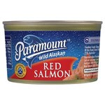 ½ Price Paramount Wild Alaskan Red Salmon 210gm $3 @ Coles