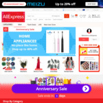 $5 USD (~$7 AUD) off Orders over $35 USD (~$50 AUD) @ AliExpress