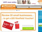 $20 Westfield Voucher to review 20 small businesses - same deal again with WOMOW