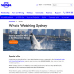 [NSW] 40% off Whale Watching Sydney Tickets @ Whale Watching Sydney via NRMA (Membership Required)