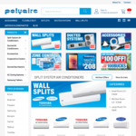 $100 off Air Conditioners When You Spend $1000 or more Online @ The Polyaire