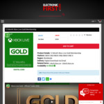 12 Months Xbox Live Gold - $61.99 (Save 3% with FB Like) @ Electronic First