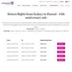 Hawaiian Airlines 15th Anniversary Sale from SYD and BNE to Oahu, Maui, Hawaii Island, Molokai and Lanai from $899 Return