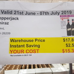 [VIC] Pepperjack Shiraz 750ml $15.39 @ Costco Moorabbin (Membership Required)
