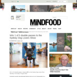 Win 1 of 5 Double Passes to the Sydney Dog Lovers Show Worth $60 from MiNDFOOD