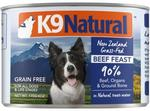 K9 Natural Grain-Free Beef Wet Meat Dog Food 170gm x 24 $39.95 (Was $95.51) @ Budget Pet Products
