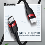 Baseus 18W Quick Charge PD Cable for iPhone (USB Type C to for Lightning) - US $5.49 (~AU $8.18) Delivered @ Baseus AliExpress