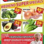 [QLD] Hass Avocado $0.25 Each, Broccoli $0.66/kg, Onions $0.49/kg, Cos Lettuce $0.39 Each @ Northside Fruit Barn (Rothwell)