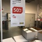 KRÅKKLÖVER Memory Foam Pillow $35 @ IKEA