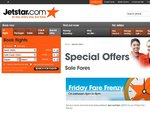 Jetstar Fares from $9! Hurry, Strictly Limited!
