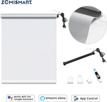 Block-out Roller Blind with Curtains Work with Google Home Smart Blind 5% Sunshine Fabric $186.30 (50% off) @ Zemismart