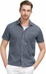 Men's Striped Shirt (98% Cotton, 2% Polyester) ~AU $14.08 Free Shipping @ Paul Jones