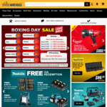 Tools Warehouse Boxing Day Sale - Makita Deals, 20% off Auzgrip, 15% off Buckaroo and More
