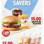 Whopper Jnr Value Meal $5 @ Hungry Jacks (via App)