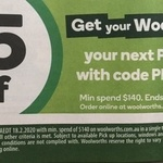$15 off Click & Collect (Min Spend $140) @ Woolworths Online