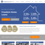2.54% Variable Home Loan Rate (Owner Occupied) @ Freedom Lend