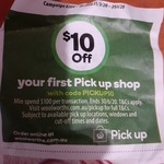 $10 off $100 Minimum Spend On Your First Click and Collect Order @ Woolworths Online