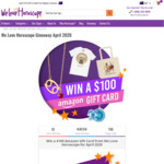 Win a $100 Amazon Gift Card from We Love Horoscope for April 2020
