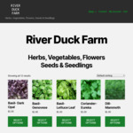 25% off Herb Seeds from $0.75 Pack + $1.50 Postage @ River Duck Farm
