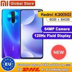 Xiaomi Redmi K30 5G US$244.19 / A$343.43 at Mi Global Store via AliExpress
