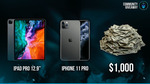 Win an iPad Pro, iPhone Pro, or $1000 from GridGaming