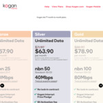 1000/50mbps $134.90/Mth, 250/25mbps $116.90/Mth for First Six Months @ Kogan nbn (FTTP, HFC)