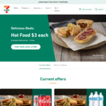 Hot Food: Pies, Pasties, Rolls, Traveller Pizzas & Dim Sims $3ea (Wednesdays to Fridays) @ 7-Eleven
