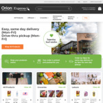 [QLD] Free Same Day Delivery within 10km & >$50 spend (Save $16.50) at Orion Springfield's e-Commerce Marketplace