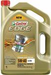 Castrol EDGE 5W-40 A3/B4 Full Synthetic Engine Oil 6L $39 @ Repco
