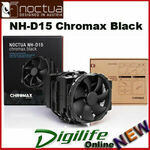 [eBay Plus] Noctua NH-D15 Chromax Black CPU Cooler $166.40 Delivered @ digilifeonline eBay
