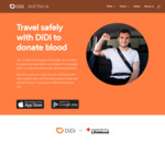 50% off Return Ride to/from Eligible Red Cross Lifeblood Blood Donor Centre (Maximum Saving $10 Per Trip) @ DiDi