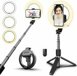 Selfie Ring Light, Mini Extendable Tripod Stand Phone with Wireless Remote $36.54 Delivered (15% off) @ Amazon Au MIUSI