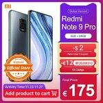 Global Version Xiaomi Redmi Note 9 Pro 64GB US$229.90 / ~A$314 Shipped @ Xiaomi Official Store via AliExpress