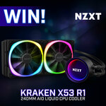 Win a NZXT X53 R1 240mm AIO Liquid CPU Cooler Worth $249 from PC Case Gear