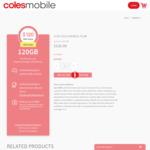 Coles Mobile $150 Prepaid SIM (120GB, 365 Days, International Calls, Data Rollover, Optus 4G Plus) $120 Delivered @ Coles Mobile
